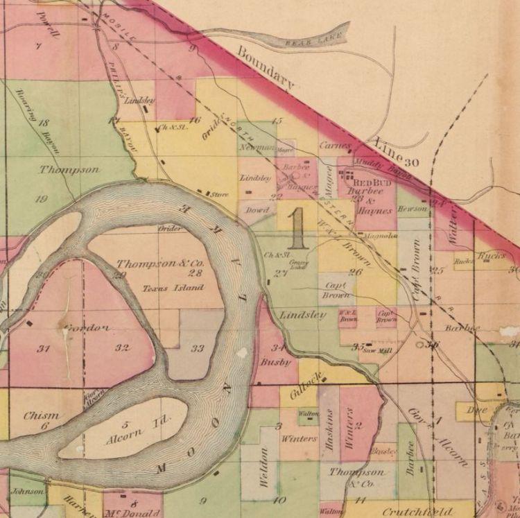 Lula area map 1870s