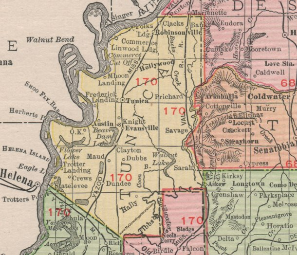 MS-Tunica-County-Mississippi-1911-Map-Rand-McNally