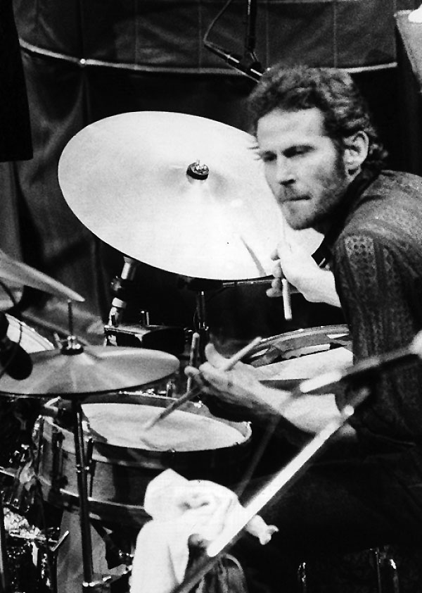 Levon Helm on the drums